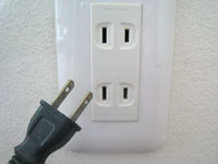 Electrical  plug shape in Japan is A