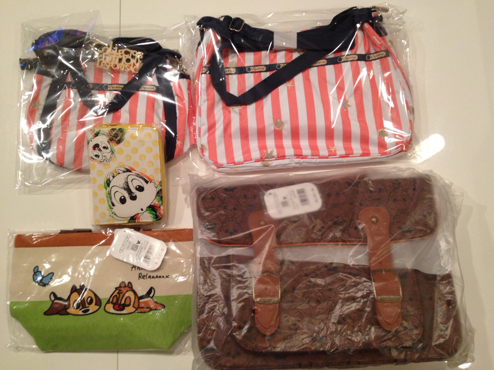 LeSportsac Tropical Delight Series & Disney Chip'n Dale Goods