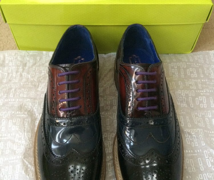 Ted Baker RISSH2 High Shine Multi Colour Brogue