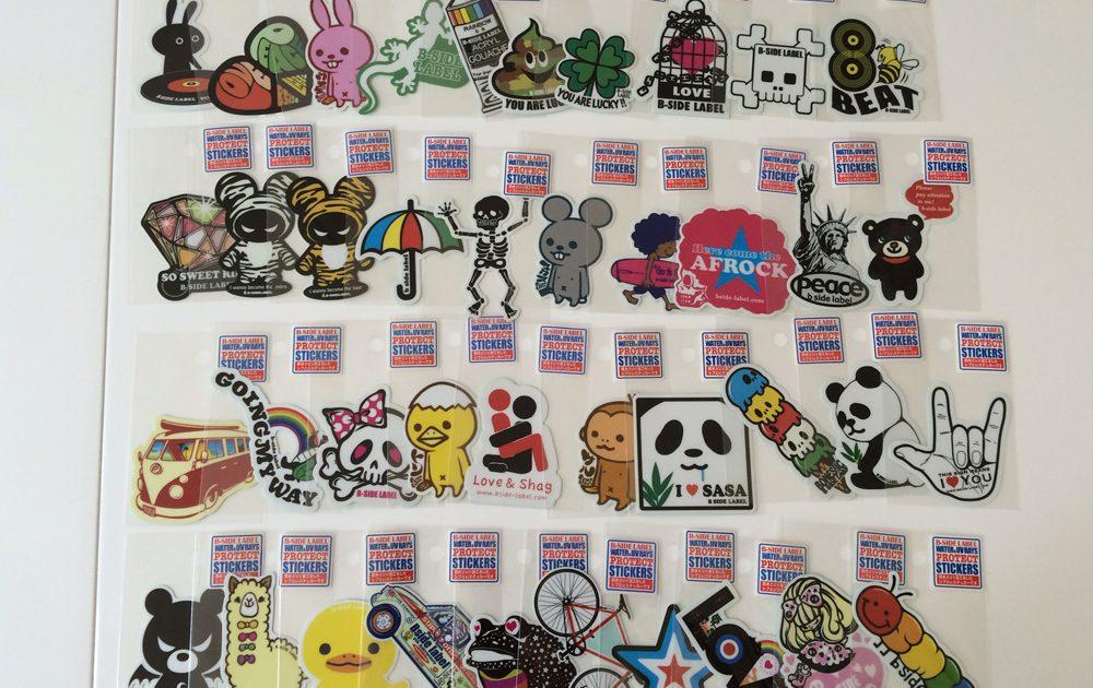 B-SIDE LABEL Stickers