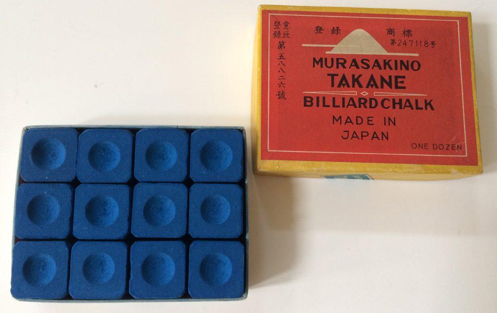 "Vintage Billiard Chalk, ""MURASAKINO TAKANE"""