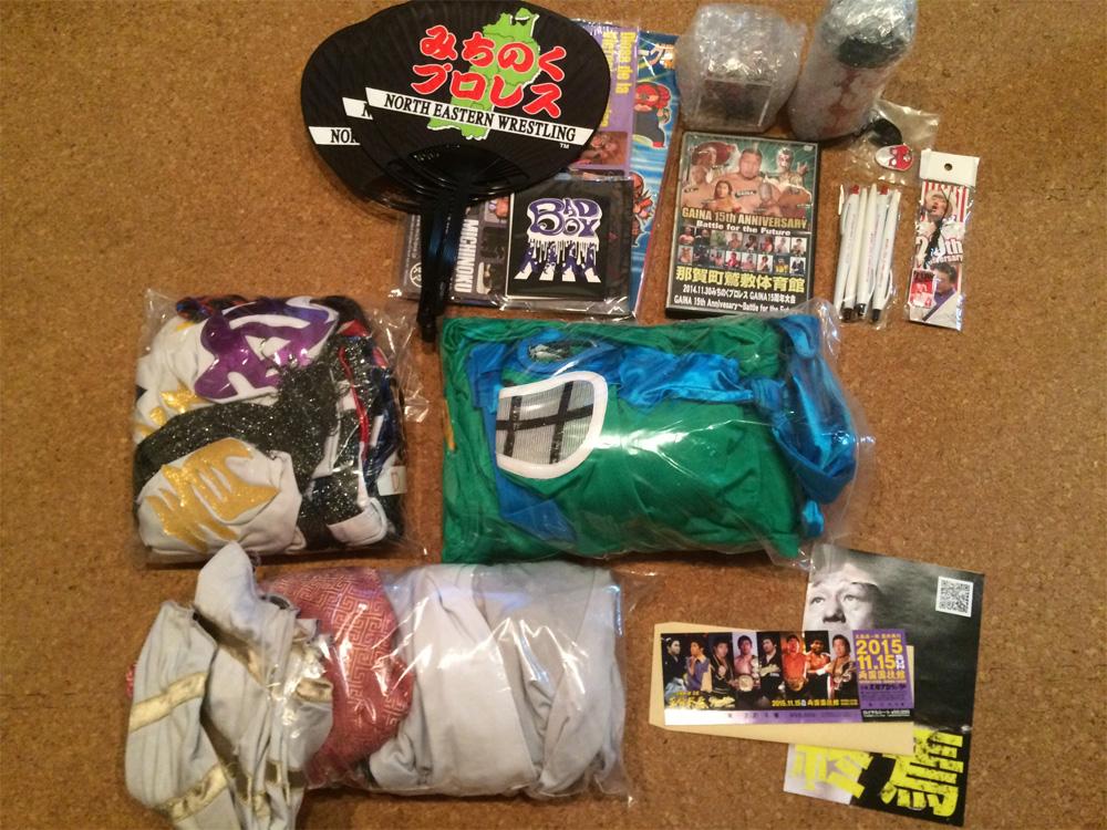 Michinoku Pro-Wrestling Goods, Ticket and Wrestler's Costumes
