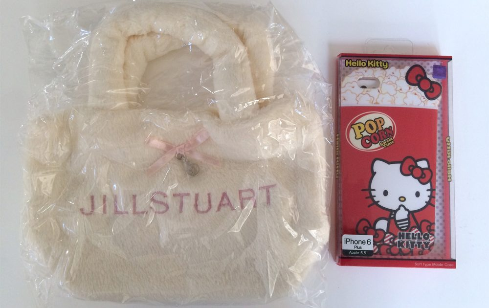 JILL STUART Fur Tote Bag & Hello Kitty iphone Case