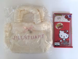 JILL STUART Fur Tote Bag & Hello Kitty iphone Case