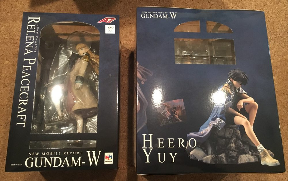 ALPHA x OMEGA Series New Mobile Report Gundam Wing Heero Yuy & Relena Peacecraft Figure Set