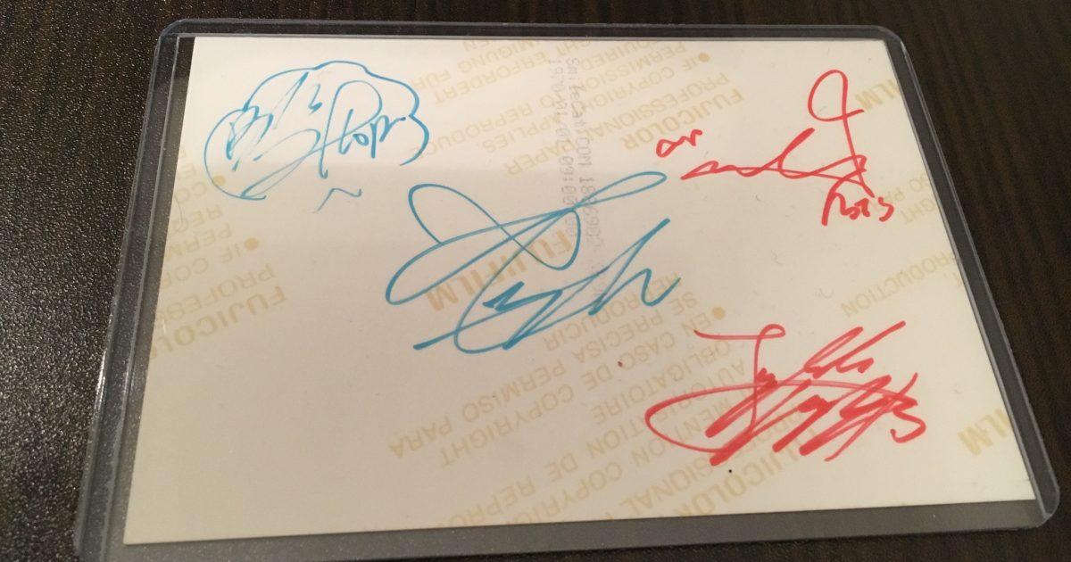 BTS Photo with Autographs