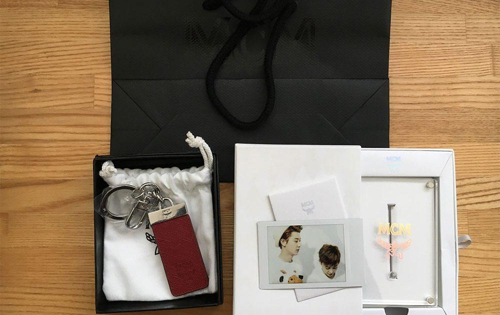 EXO x MCM Polaroids and Key Chain