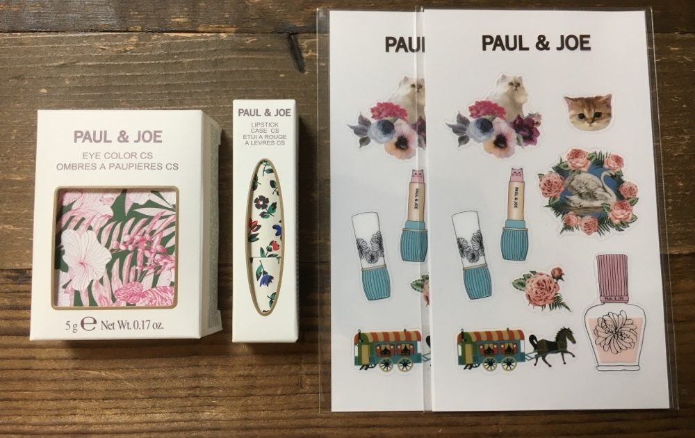 PAUL & JOE Lipstick Cases, Stickers and Eye Color