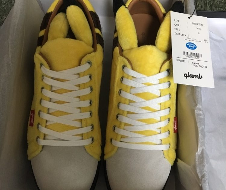 glamb Pikachu Sneakers and knit