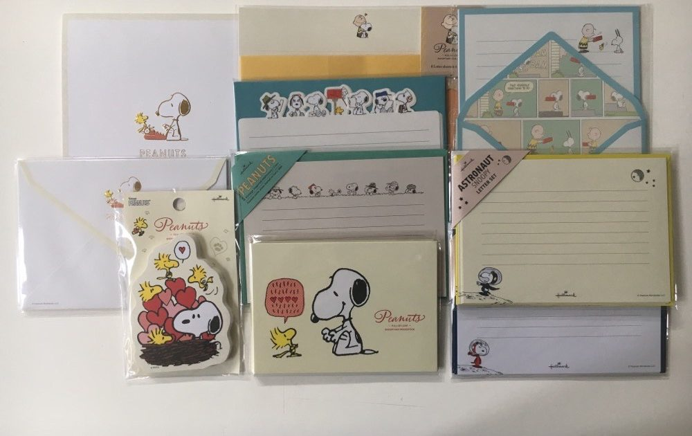 Peanuts Snoopy Letter Sets