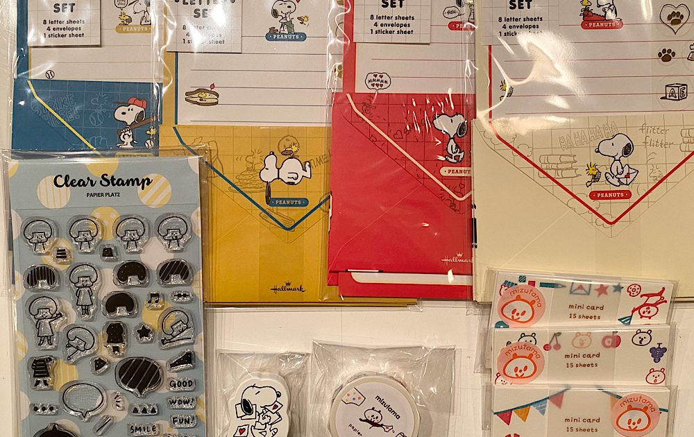 Peanuts Snoopy Letter Sets and Mizutama Stationaries